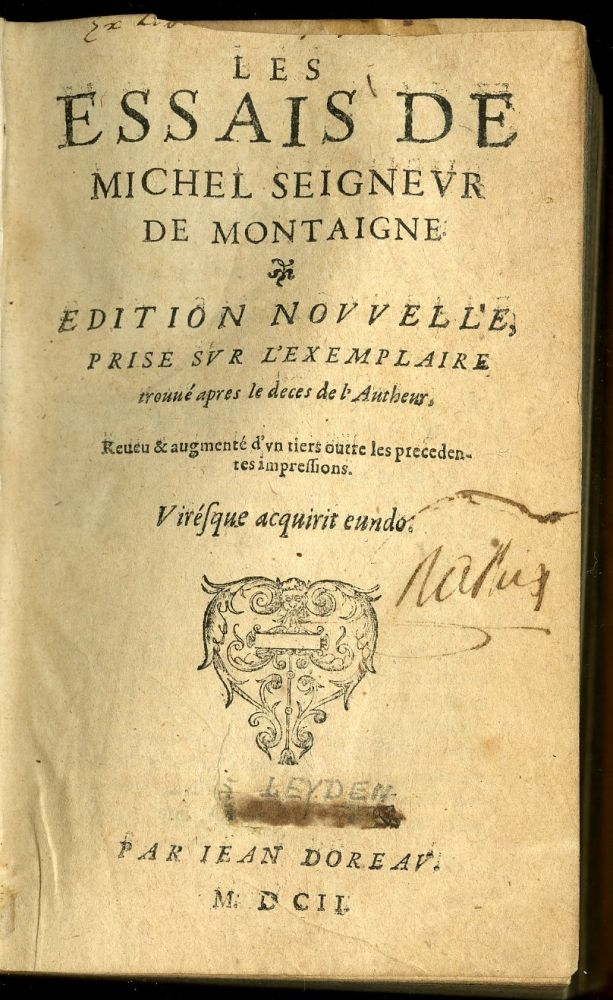 book of essays montaigne