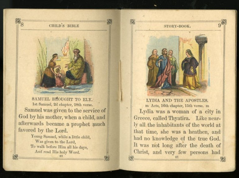 Child's Bible Story Book with Colored Pictures no. 3. Various / Unstated.