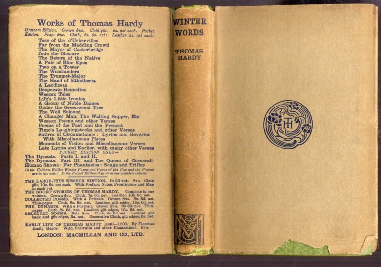 Winter Words in Various Moods and Metres. Hardy Thomas.