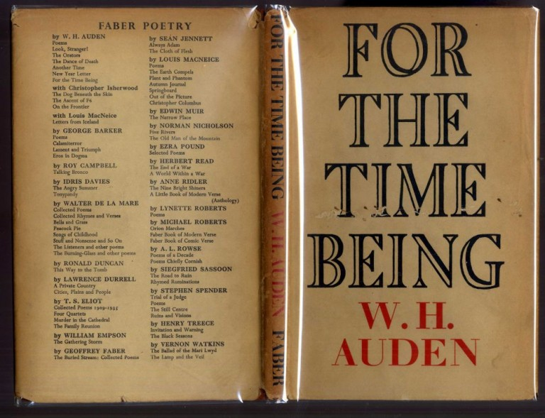 For the Time Being. Auden W. H.