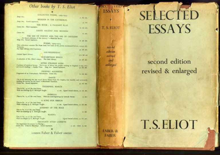 Selected Essays. Eliot T. S.
