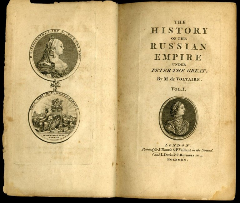 The History of the Russian Empire Under Peter the Great. Voltaire Francois Marie Arouet de.