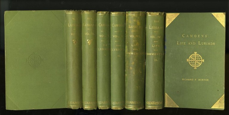 Os Lusiadas (The Lusiads) [with] Camoens: His Life and His Lusiads [with] The Lyricks. 6 volumes. trans, Luis Vaz de Camoens, Richard Francis Burton.