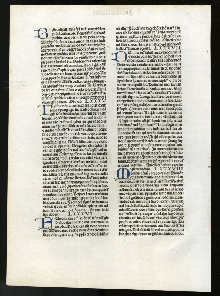 Biblia latina [leaf from 1478 edition].