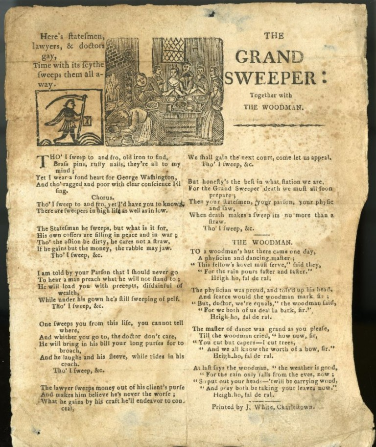 The Grand Sweeper: Together with The Woodman [Broadside Ballad]. anon.