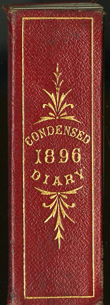 De la Rue's Improved Condensed Diary and Engagement Book, 1896.