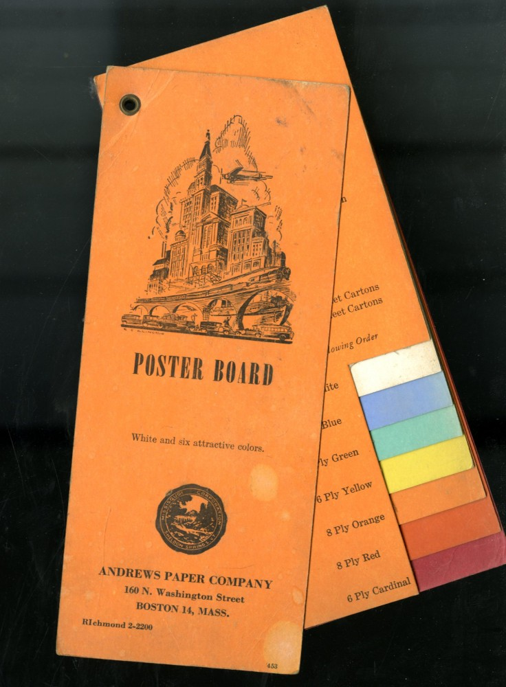 Poster Board: White and Six Attractive Colors. Andrews Paper.