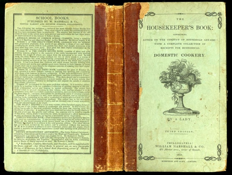 The Housekeeper's Book: Containing Advice on the Conduct of Household Affairs: With a Complete Collection of Receipts for Economical Domestic Cookery. A Lady, Frances Harriet Whipple Greene MacDougall.