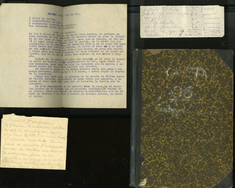 Early 20th century Manuscript Cookbook. Gaby Gabriela.