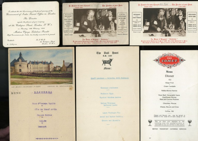 Collection of Mid Century Menus and Related Correspondence - Most from the Savoy London. anon.