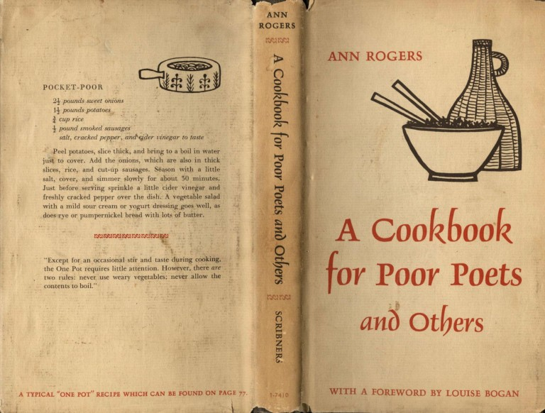 A Cookbook for Poor Poets and Others. Rogers Ann.