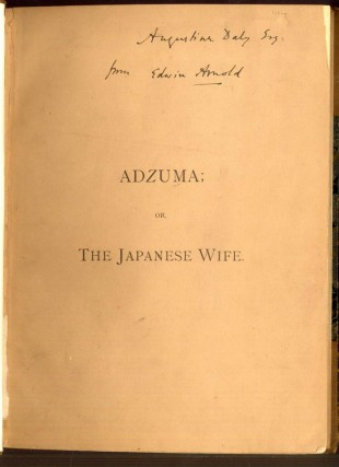 Adzuma or the Japanese Wife: A Play in Four Acts