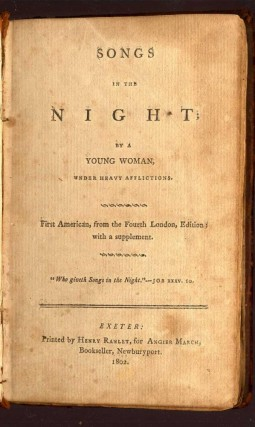 Songs in the Night; By a Young Woman, Under Heavy Afflictions