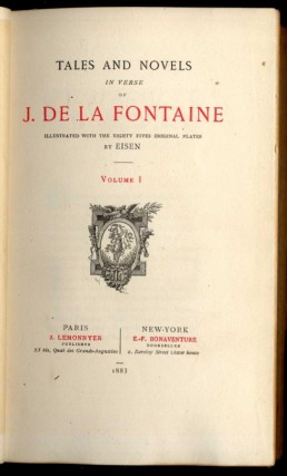 Tales and Novels in Verse of J. De la Fontaine 2 vols