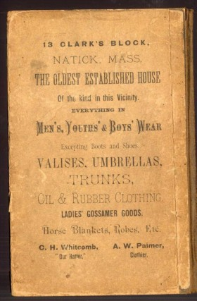The First Resident and Business Directory of Wellesley, Mass. Ever Published. Containing a Complete Resident, Street and Business Directory, Town Officers, Schools, Societies. Churches, Post Offices, etc.