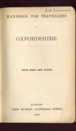 Handbook for Travellers in Oxfordshire (Murray's Hand-Book)