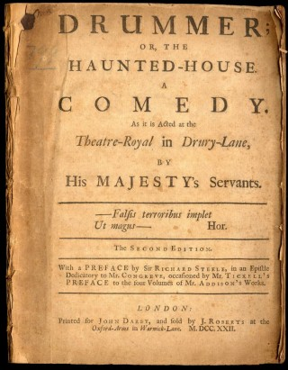 Drummer; or, The Haunted-House. A Comedy. As it is Acted at the Theatre-Royal in Drury-Lane....