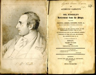 An Authentic Narrative of Mr. Kemble's Retirement from the Stage; including Farewell Address, Criticisms, Poems, &c.