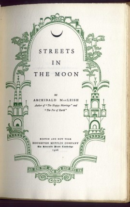 Streets in the Moon
