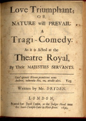 Love Triumphant; or Nature Will Prevail. A Tragi-Comedy