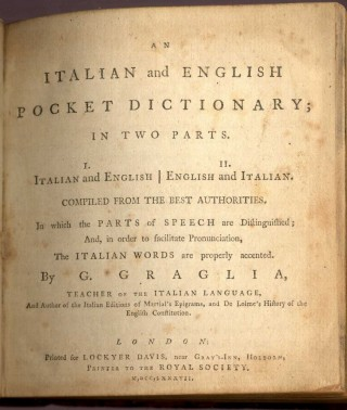 An Italian and English Pocket Dictionary in Two Parts