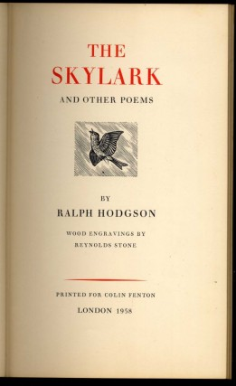 The Skylark and Other Poems