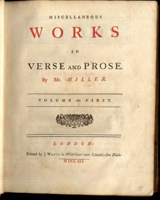Miscellaneous Works in Verse and Prose