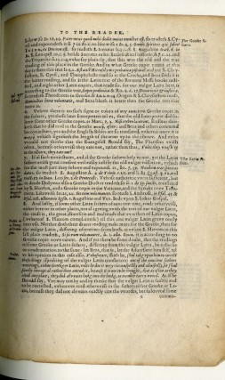The Rhemes New Testament. Being a full and particular Account of the Origins, Printing, and subsequent Influences of the first Roman Catholic New Testament in English, with the divers Controversies occasioned by its publication diligently expounded for the Edification of the Reader. [Leaf Book]