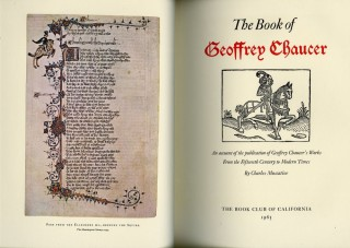 The Book of Geoffrey Chaucer: An Account of the publication of Geoffrey Chaucer's Works From the Fifteenth Century to Modern Times [leaf book]