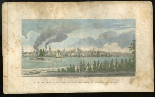 View of Hartford from the eastern bank of Connecticut River. Asaph Willard.