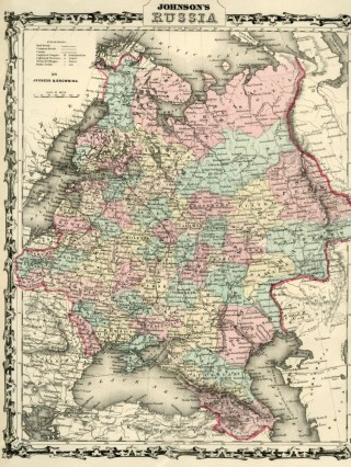 Map of Russia [from johnson's new illustrated family atlas]. Johnson