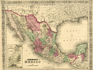 Map of Mexico [from johnson's new illustrated family atlas]. Johnson
