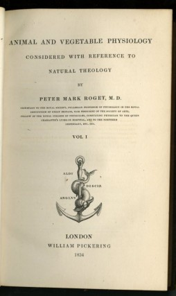 Animal and Vegetable Physiology Considered With Reference to Natural Theology [Bridgewater Treatises]