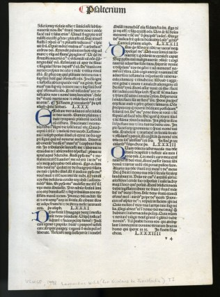 Biblia latina [leaf from 1478 edition]