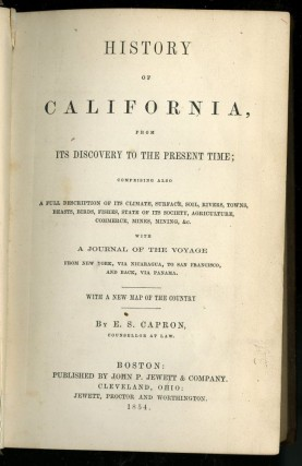 History of California, from its Discovery to the Present Time