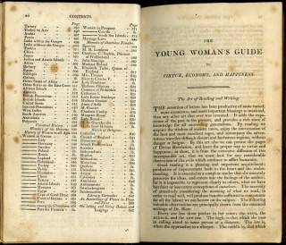 The Young Woman's Guide to Virtue, Economy, and Happiness being an improved and pleasant directory for cultivating the heart and understanding