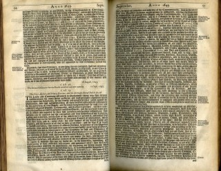 A Collection Of Acts And Ordinances Of General Use, made in the Parliament Begun and held at Westminster the third day of November, Anno 1640 and since, unto the Adjournment of the Parliament begun and holden the 17th of September, Anno 1656.
