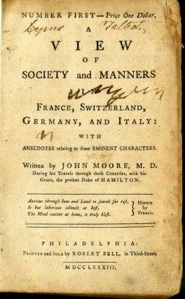 A View of Society and Manners in France, Switzerland, Germany, and Italy: With Anecdotes Relating to Some Eminent Characters