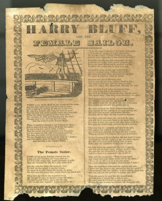 Harry Bluff and the Female Sailor [Broadside Ballad]. anon.