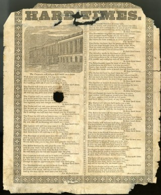 Hard Times [Broadside Ballad]. anon.
