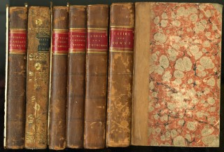 Architectural Commonplace Books, late 18th - early 19th century (6 Volumes). anon.