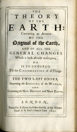 The Theory of the Earth: Containing an Account of the Original of the Earth...The First Two Books [with] The Theory of the Earth...The Last Two Books [with] A Review of the Theory of the Earth