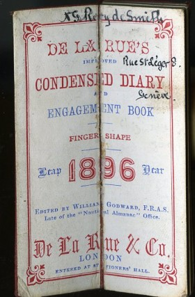 De la Rue's Improved Condensed Diary and Engagement Book, 1896