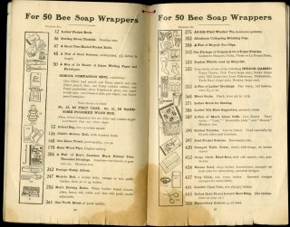 Bee Soap Premium List 1902: The Right Way to Wash Clothes [soap wrapper catalog]