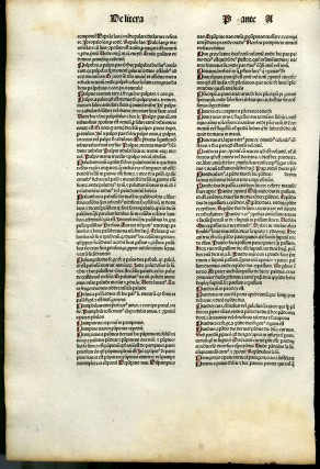 Catholicon [single incunable leaf]