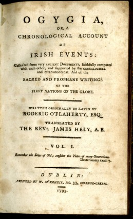 Ogygia, or a Chronological Account of Irish Events