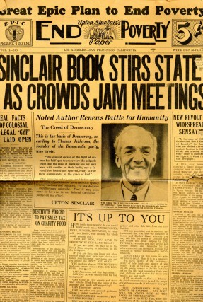 Upton Sinclair's End Poverty Paper, EPIC (End Poverty in California) News