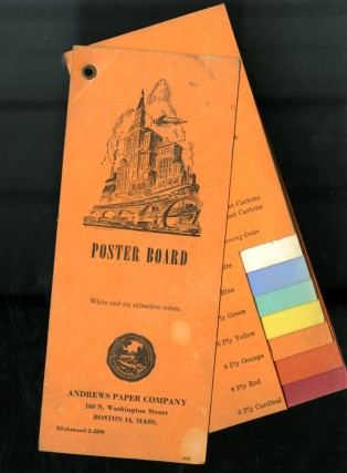 Poster Board: White and Six Attractive Colors. Andrews Paper