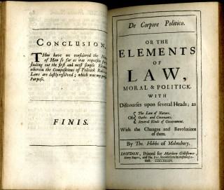 Hobbs's Tripos, in Three Discourses: The First, Human Nature...The Second De Corpore Politico...The Third of Liberty and Necessity