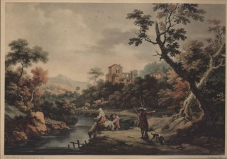 Le Soir [19th Century Lithograph of an 18th Century painting]. Cignaroli Amadeo